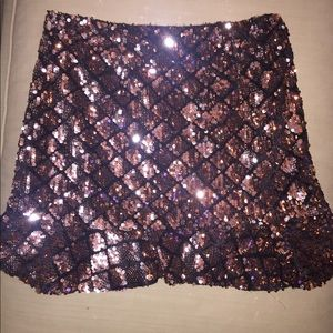 Forever 21 gold sequin skirt